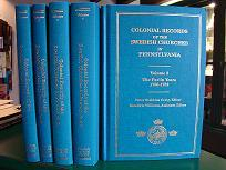 Volume 1 – 5 of the Colonial Records of the Swedish Churches in Pennsylvania.